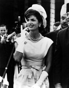 Jackie Kennedy Wearing Oscar de la Renta
